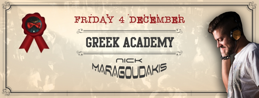 NICK MARAGKOUDAKIS @ GREEK ACADEMY